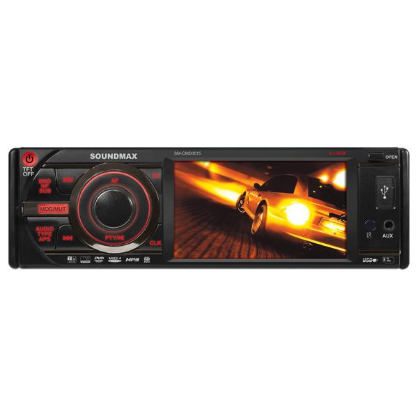 Автомобильная магнитола с DVD + монитор Soundmax М.Видео 2795.000