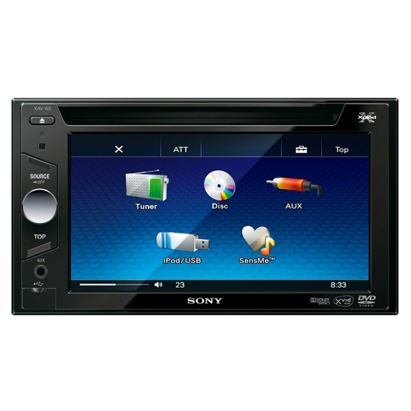 Автомобильная магнитола с DVD + монитор Sony М.Видео 8490.000