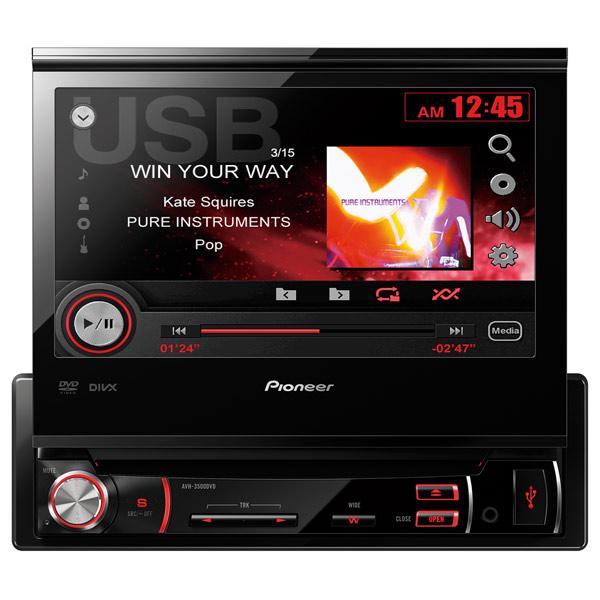 Автомобильная магнитола с DVD + монитор Pioneer М.Видео 9990.000