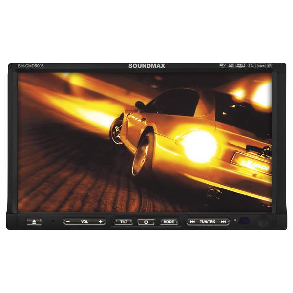 Автомобильная магнитола с DVD + монитор Soundmax М.Видео 4790.000