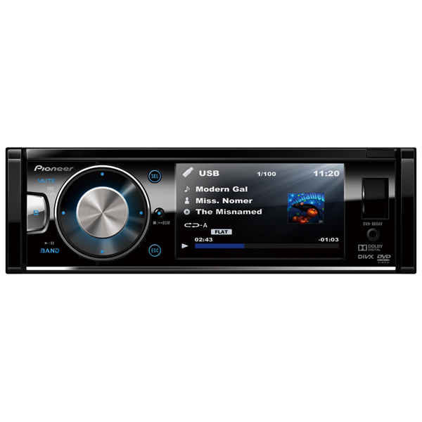 Автомобильная магнитола с DVD + монитор Pioneer М.Видео 7640.000