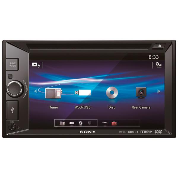Автомобильная магнитола с DVD + монитор Sony М.Видео 9490.000