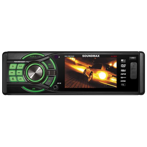 Автомобильная магнитола с DVD + монитор Soundmax М.Видео 2710.000