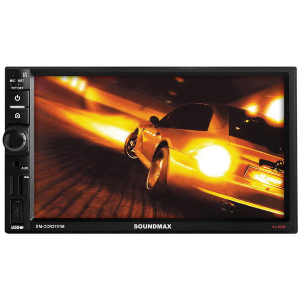 USB-Автомагнитола c встроенным монитором Soundmax М.Видео 4665.000