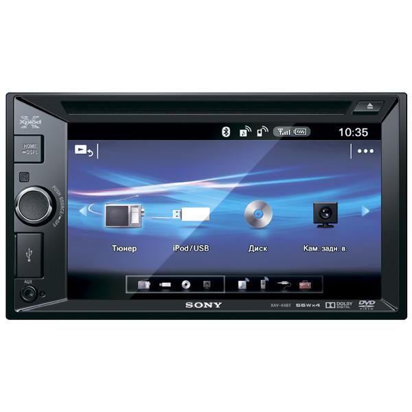 Автомобильная магнитола с DVD + монитор Sony М.Видео 12890.000