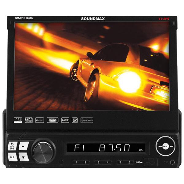USB-Автомагнитола c встроенным монитором Soundmax М.Видео 6490.000