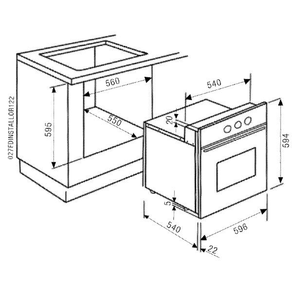 Как сделать встроенный духовой шкаф