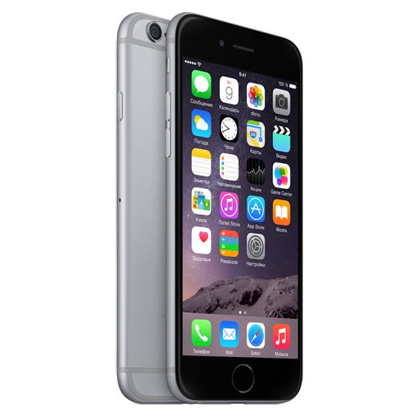 Смартфон apple iphone 6 128gb space gray mg4a2ru a