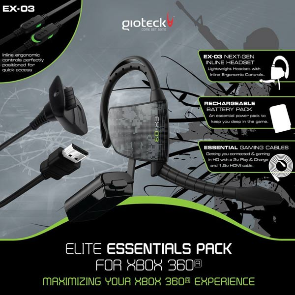Гарнитура для игровой приставки Xbox360 Gioteck М.Видео 1490.000