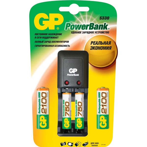 Зарядное устройство + аккумуляторы GP М.Видео 650.000