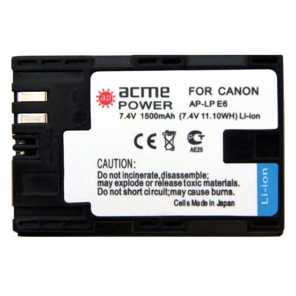 Аккумулятор для цифрового фотоаппарата AcmePower М.Видео 1190.000