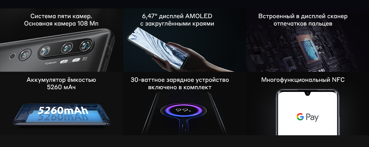 Смартфон Mi Note 10 | 10 Pro